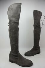 Stuart Weitzman Lowland Over the Knee Suede Boots Topo Grey Size 9 M
