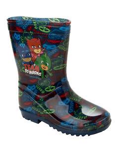 BOYS DISNEY PJ MASKS WELLIES RAIN WELLINGTON BOOTS NURSERY INFANTS UK SIZE 5-7