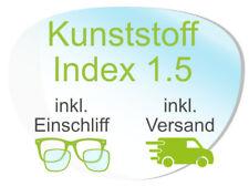 2 Brillengläser inkl. Einschliff/Versand (Kunststoff1,5 Super-ET, Hart, Clean)