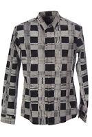 SURFACE TO AIR Men's Printed Plaid Black Classic Shirt $230 NEW