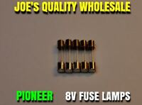 (5)FUSE TYPE LAMPS 8v 200mA/250mA/VINTAGE STEREO RECEIVER Pioneer METER DIAL
