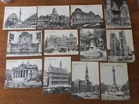 Lot de 12 cartes postales anciennes début XXeme «monuments de Bruxelles»