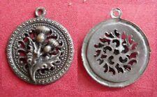 ancienne médaille CHARDON DE LORRAINE 20mm Métal argenté