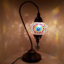 Turkish Marocain Coloré Verre Mosaïque Lampe Lumière Table Certifié Ce