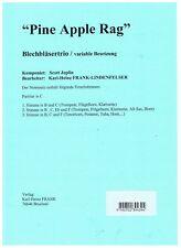 Pineapple Rag Scott Joplin Noten Blechbläser BrassTrio zB.Trompete Horn  Posaune