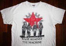 RAGE AGAINST THE MACHINE / RATM / 2008 LA USA CALIFORNIA / WHITE T- SHIRT SIZE L