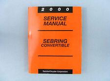 Service Manual, 2000 Chrysler Sebring Convertible (JX), 81-270-0022