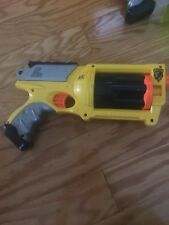 Yellow Nerf N-Strike Maverick REV-6 Revolver Dart Gun -  FREE SHIPPING 123