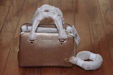 NWT Michael Kors $298 Savannah Small Satchel Handbag Purse Pale Gold