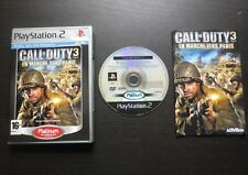 CALL OF DUTY 3 EN MARCHE VERS PARIS : JEU PLAYSTATION 2 PS2 (Platinum COMPLET)