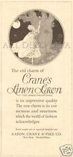 Antique Crane's Linen Lawn Writing Paper Stationery LOVE LETTER Tree Moon Art Ad
