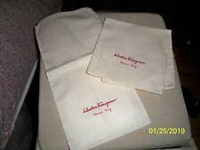 Pair Of Salvatore Ferragamo Cotton Shoe Covers Dust Bags Authentic