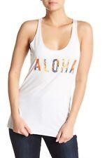 Rip Curl XL White Aloha Beach Troicana Top Tank Sleeveless T-Shirt Tee Surf