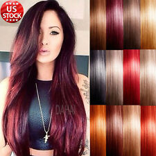 Grade AAAAA 100% Real Good Clip In Remy Human Hair Extensions Full Head 120g A41