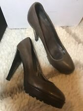 da72ca0d603 Max Mara Leather Heels 7 Women s US Shoe Size for sale