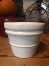 Vintage Indoor Plant Pot Teacotta With White Glaze Herb Display