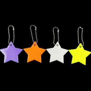 Child Safety Reflector Key Ring Star Ultra Reflective Gear Keychain Bag Clothing