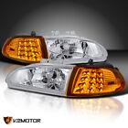 For 92-95 Honda Civic 2dr3dr Eg Eh Ej Crystal Headlightsled Corner Lights 4pc