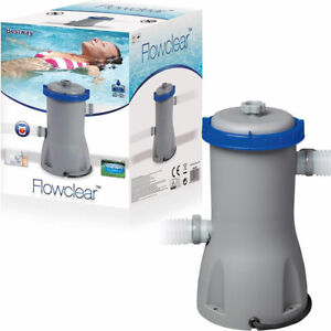 Bestway Swimming Pool Filter Pump Cartridge Electric Flowclear 330/530/800 Gal