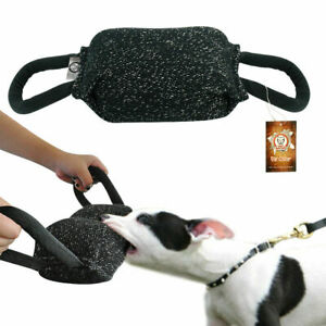 K9 Pet Training Bite Tug 2 Handles Chewing Toys for Young Police Dogs SCHUTZHUND