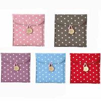 Sanitary Towel Napkin Pad tampon Purse Holder Case Bag Organizer Polka Dot New S