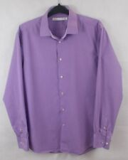 French Connection Mens Dark Purple Cotton Long Sleeve Shirt Size 16.5'' Collar