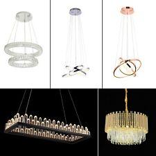 Modern LED Crystal Chandelier Circular Ceiling Light Hanging Lights Pendant UK