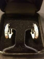 DIAMOND EARRINGS IN 14 K WHITE GOLD .50 TCW APPROXIMATELY