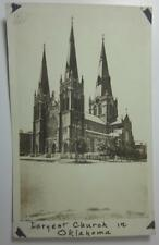 TULSA OKLAHOMA LARGEST CHURCH IN OKLAHOMA VINTAGE REAL PHOTO POSTCARD PC