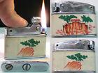 Briquet ancien { Made China } Art Déco Vintage wick Lighter Feuerzeug Accendino