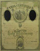 ANTIQUE POST CIVIL WAR 1877 FALL RIVER MA FULTON ST NY NEVA GORMAN RR FOLK ART