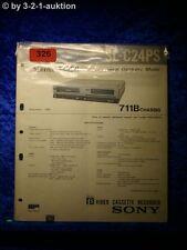 Sony Service Manual SL C24PS Video (#0326)