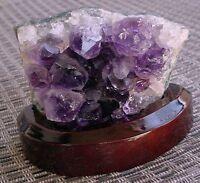 Amethyst Crystal Druze Gem Gemstone Cluster &  Stand EBS1640