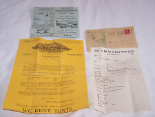 1922 ADS BROCHURE-WENZEL TENT CO-WOLF-FT WAYNE IN-AUTO TOURING-BOY SCOUT-WALL