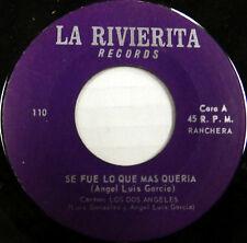 LOS DOS ANGELES 45 Se Fue Lo Que Mas Queria LA RIVIERITA Latin #A290