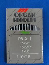 INDUSTRIAL SEWING MACHINE NEEDLES ORGAN WORKS ON BROTHER, JUKI, DBX1 SIZE 110/18