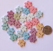 NOVELTY BUTTONS NO 46 - 25 FLOWER MIXED SHADES - Scrapbooking Sew