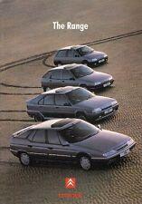 Citroen 1991-92 UK Market Sales Brochure AX ZX BX XM