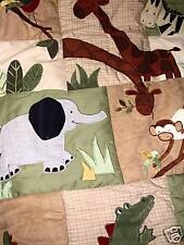 New Kidsline 6 Piece linen Cot Set Zanzibar Jungle Playtime Bedtime Baby