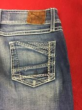 BKE Denim Stella Blue Jeans sz 27 Length 32 Stretch Boot Cut  GUC