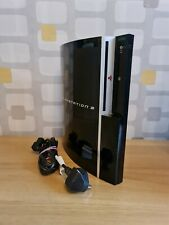 Sony Playstation 3 ps3 Phat/Fat 80gb Piano Black Konsole Einheit Nur