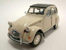 """Citroen 2cv """"pato"""" 1982 beige coche modelo 1:24 Welly"""