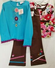 HANNA ANDERSSON NWT Tops Pants Size 110 4 5 Outfit 3 PC Set 100% Cotton