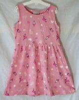 Girls Matalan Pink Milkshake Flamingo Love Stars Sleeveless Dress Age 6 Years