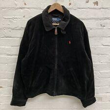 Vintage Polo Ralph Lauren Black Corudroy Jacket Silk Lined Size XL