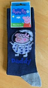 Peppa Pig, Men's Daddy Pig Socks,  Fathers Day Gift Birthday Gift, Size 7-11