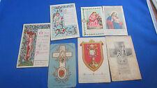lot 7 anciennes images religieuses pieuses canivet  dentelle gravure holy card