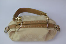 Kathy Van Zeeland Removable Faux Crocodile  Strap Rhinestone Studs Shoulder Bag