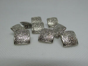 10 Small 15mm Ornate Silver Finish Kilt Jacket Prince Charlie Crail Buttons New
