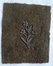 Insigne tissu brodé cannetille argent TRESOR AUX ARMEES WWI WWII France ORIGINAL